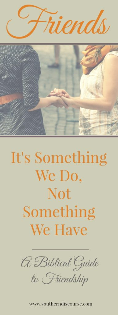 Tired of friendships that don't work? Being a friend isn't something that happens to us or a response to what others do for us. Being a friend is actively loving someone else. And it is so much more rewarding way to do life! A biblical guide to truly being a friend.