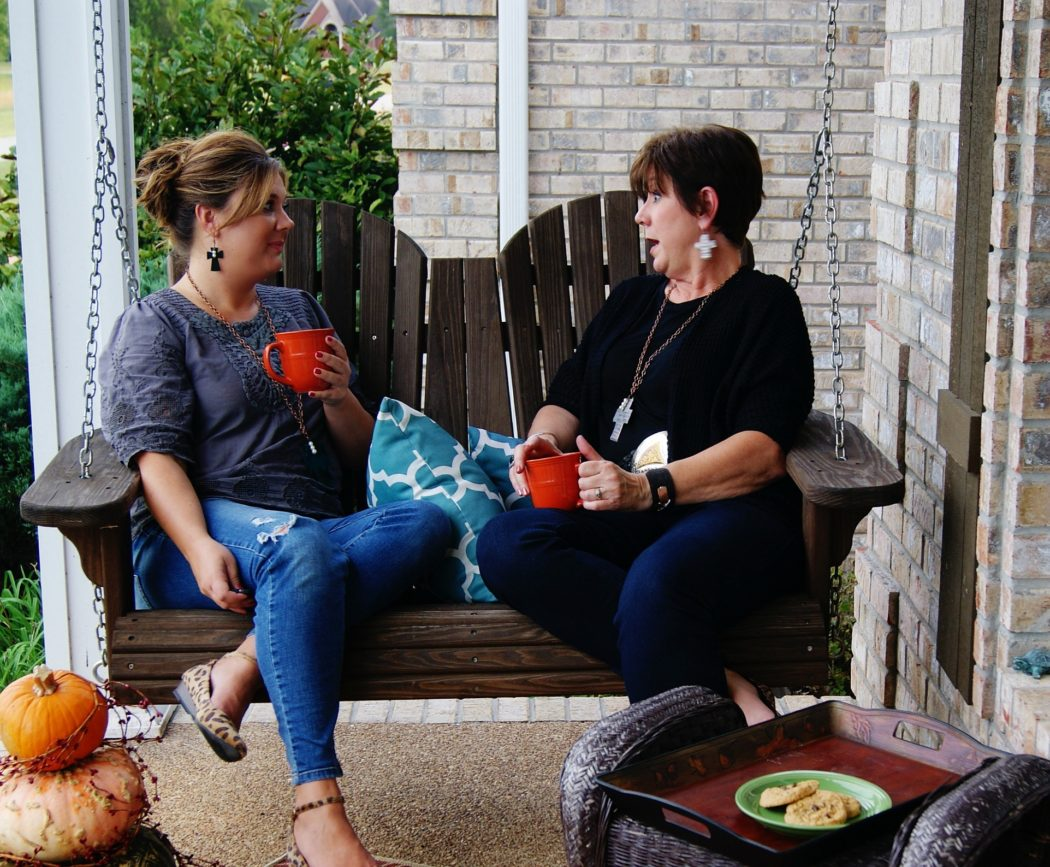 To see more of Joyce's visit to my porch, click the photo
