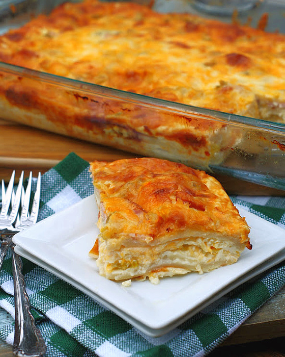 Overnight Green Chili Strata Breakfast Casserole