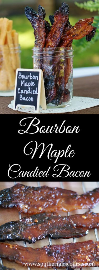 Bourbon + maple + bacon with just a little red pepper kick, all candied to a gorgeous perfection. If slow, sweet southern drawls ever had a flavor, they would taste just like this.