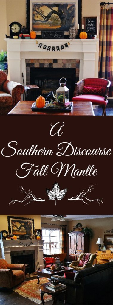 Step by step to creating a great fall mantle that's just right for Thanksgiving!