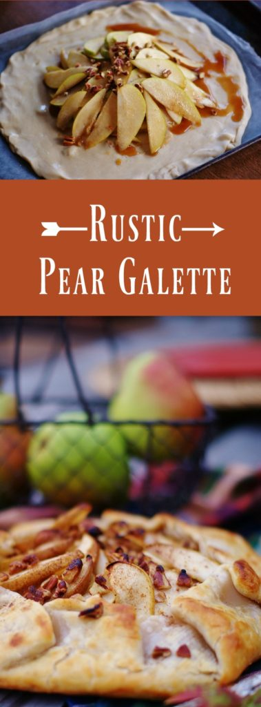 Rustic Pear Galette-delicious fall dessert with pears, honey, and walnuts. Like a pie, only easier! autumn, fall recipe, fall food