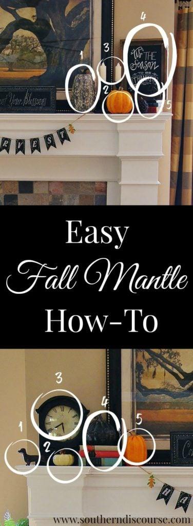 Eeasy steps to creating a professional, balanced fall mantle. Fall decor, fall home decor