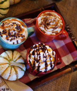 How to make your own homemade fall coffee creamers, like dark chocolate pumpkin & salted caramel mocha, plus a coffee bar to charm your Thanksgiving guests!