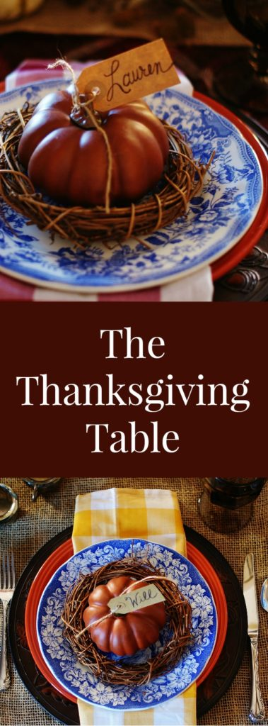 Rich plaids, checks, and textures. But a real Thanksgiving table isn't about perfection. It's about hospitablity. How to create a warm and welcoming Thanksgiving table.