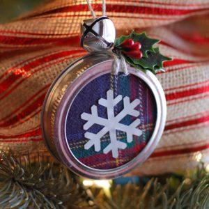 Mason Jar Lid Ornament The Ruffled Mango