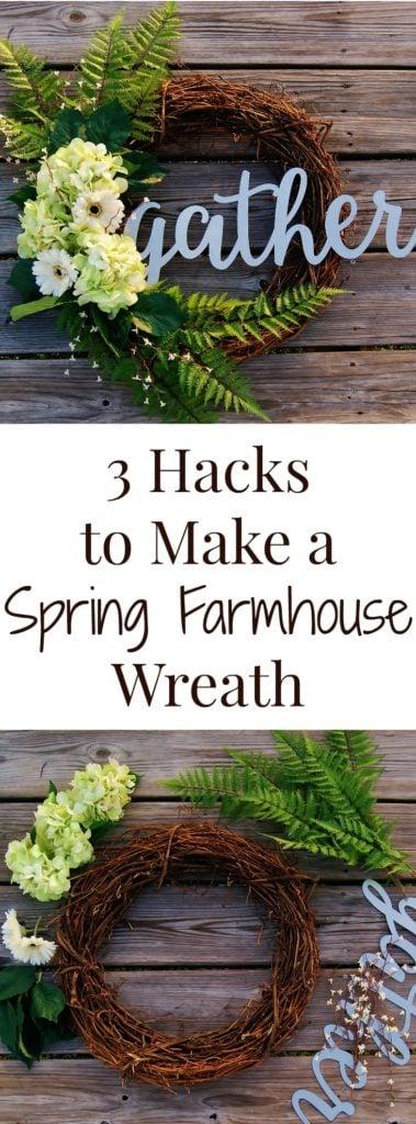 طريقة سهلة لصنع إكليل على طراز بيت المزرعة الخاص بك لفصل الربيع!