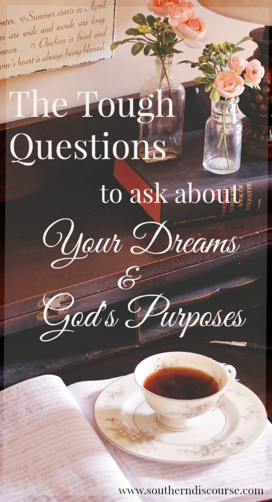 How do you know if your dreams line up with God's calling on your life? When should you get started? Knowing your purpose and destiny may be easier than you think. 5 questions you should be asking about your hopes and dreams for your life.