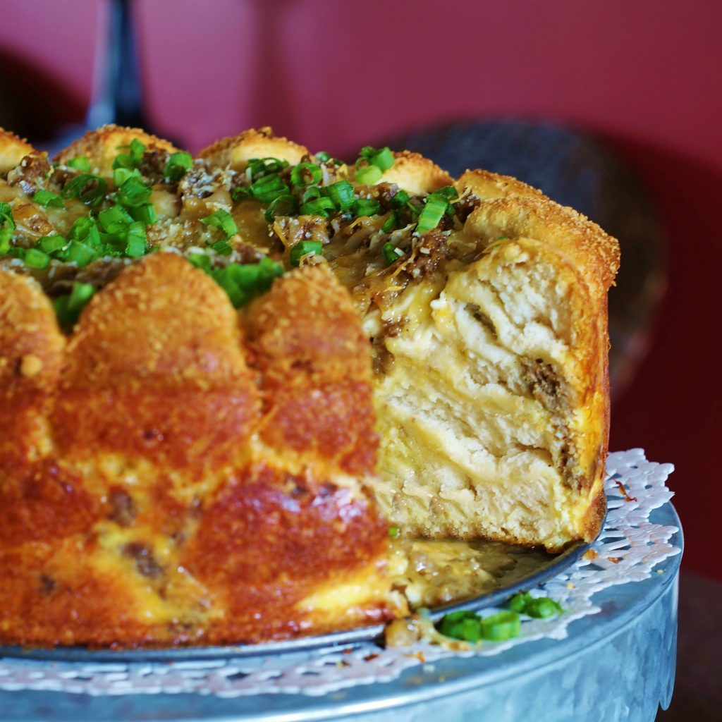 Savory Sausage, Egg, & Cheese Brunch Cake