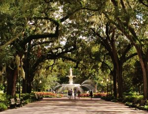 Savannah, GA's Forsyth Park is one of the highlights of the city.