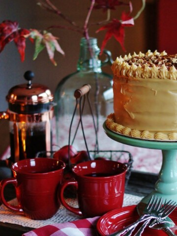 A delicious take on the traditional southern dessert - caramel cake. Perfect holiday dessert or Thanksgiving dessert.