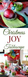 A whimsical Christmas table to celebrate the JOY of the season with 3 Biblical insights into the real nature of joy.