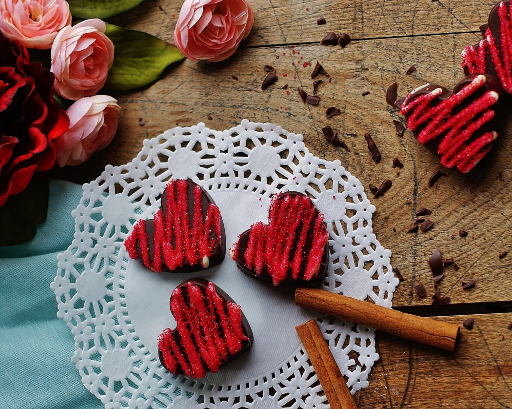 Spicy Chocolate Hearts in 3 Easy Steps