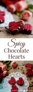Creamy and rich dark chocolate with a spicy kick or cinnamon and cayenne. These Spicy Chocolate Hearts are perfect for Valentine's Day!