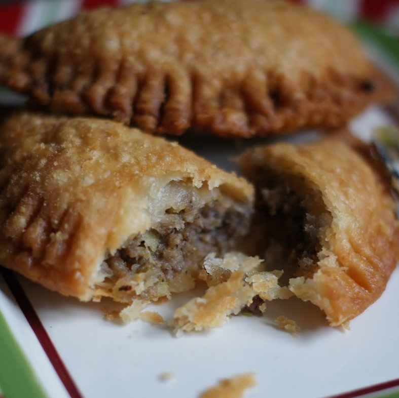 Meat Pies filled with spicy beef and sausage.