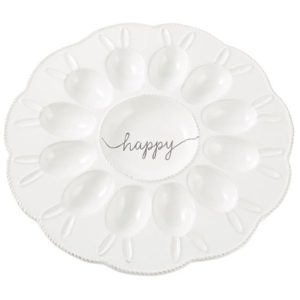 Bunny Ears Deviled Egg Platter by Mudpie