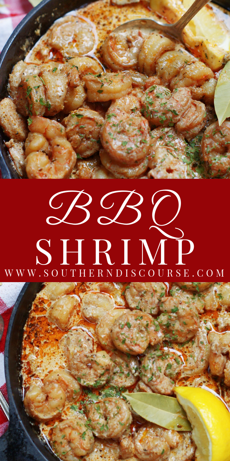 Tender, saucy, buttery New Orleans BBQ Shrimp have a barbecue style of their very own.  Enjoy these special shrimp with crusty, garlicky French bread or over Baked Cheese Grits for a wonderfully indulgent taste of the Crescent City at home!