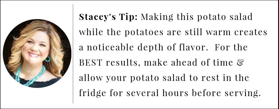 Pro tip to make the best deviled egg potato salad.