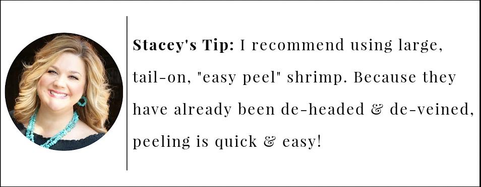 BBQ shrimp tip for easy peel shrimp