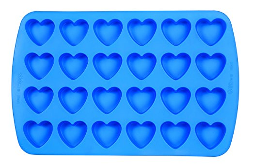 An affiliate picture link to purchase the Wilton heart-shaped silicone mold.