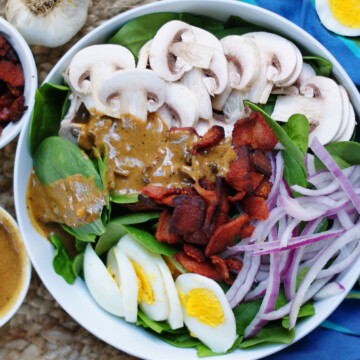 hot bacon dressing for spinach salad title