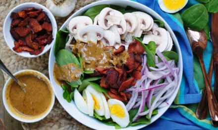 Hot Bacon Dressing for A Spinach Salad