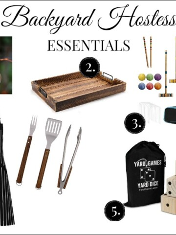 backyard hostess essentials collage
