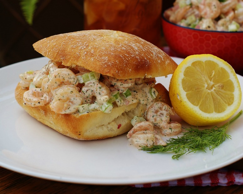 Southern Shrimp Salad Roll With Lemon Dill Mayo Southern Discourse