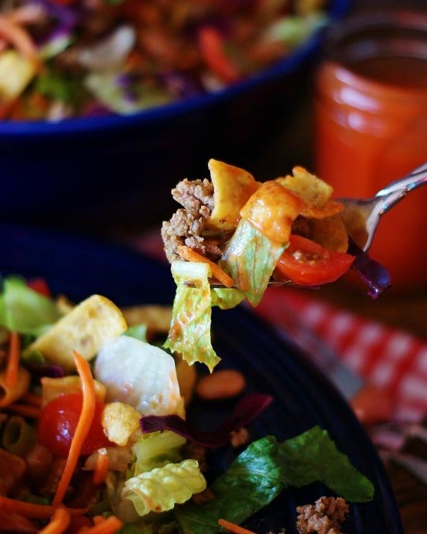 A forkful of Catalina Taco Salad.