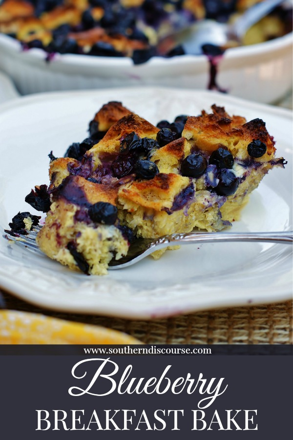 Plump blueberries, sourdough, eggs make a delicious quick and breakfast casserole. Make it ahead and let the sourdough soak up all eggs, cinnamon and vanilla. Pop it in the oven and just 35-40 minutes to a delcious breakfast or brunch!