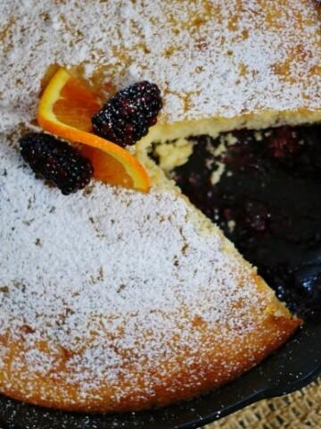 Buttermilk blackberry jam cake