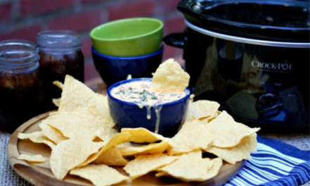 Queso Dip with Collard Greens & Sausage