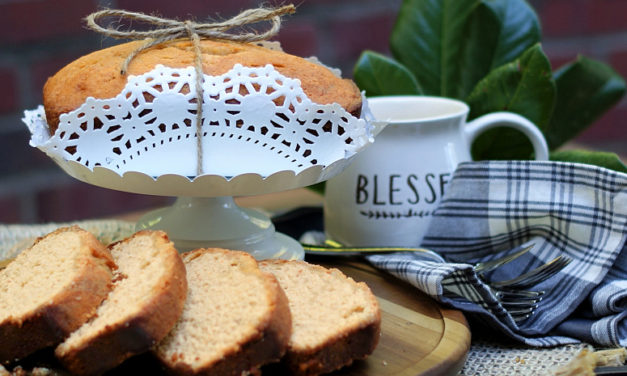Sweet Potato Pound Cake with Cinnamon Simple Syrup