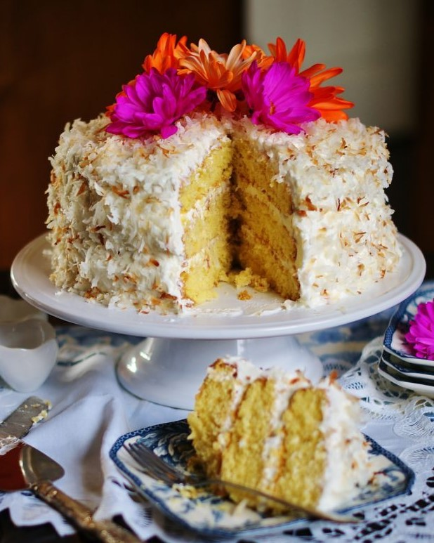 Coconut Cake is a classic Thanksgiving dessert.