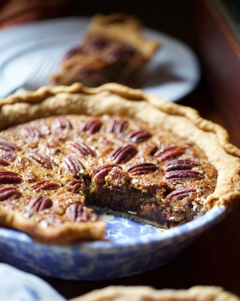Bourbon Pecan Chocolate Chip Pie is another easy Thanksgiving Dessert.