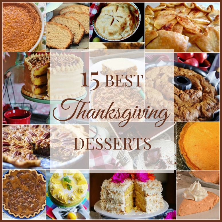 A collage of the 15 best Thanksgiving Desserts