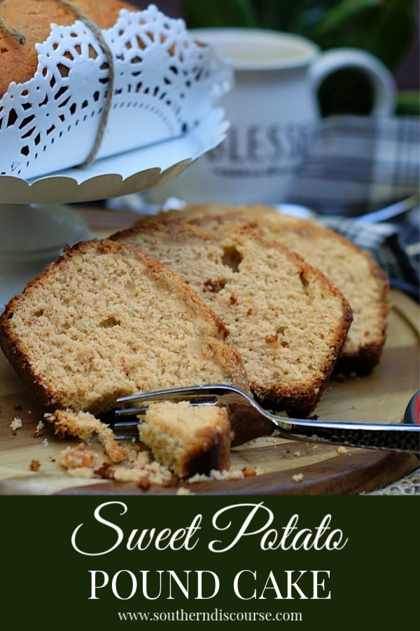 This moist, seasonal pound cake is perfect for Thanksgiving and the holidays. A perfect fall cake for coffee!