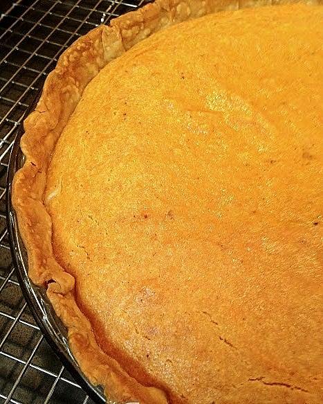 Sweet Potato Pie, a traditional Thanksgiving Dessert.