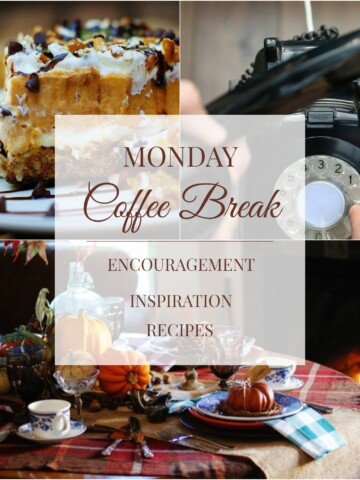 Monday Coffee Break at SouthernDiscourse.com has Biblical encouragement, inspiration, and recipes to help you start you week off right. Join us every Monday morning at 9AM at www.southerndiscourse.com.