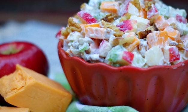Apple,  Cheese, Celery Salad