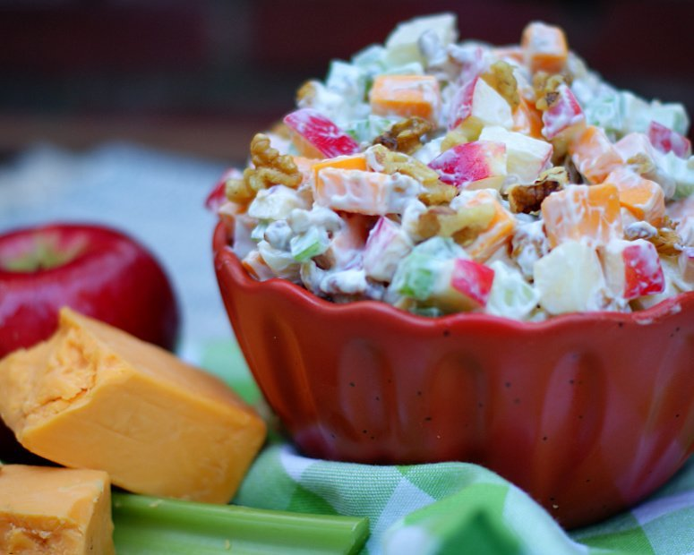 Apple,  Cheese, Celery Salad