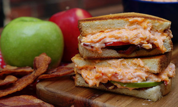 Grilled Pimento Cheese, Apple & Bacon Sandwiches