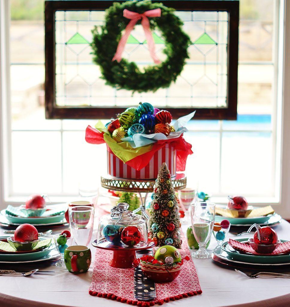 A whimsical Christmas table to spread JOY.
