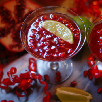 Pomegranate Punch, a festive holiday drink.