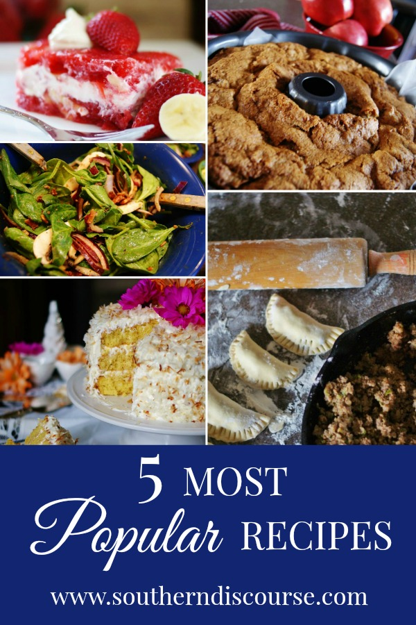 5 most popular recipes of the year, plus the top 3 hospitality posts! #southerndiscourse #topposts