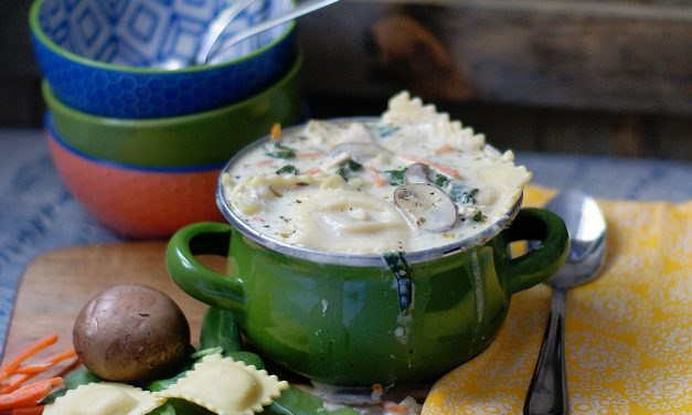 Creamy Chicken & Ravioli Soup