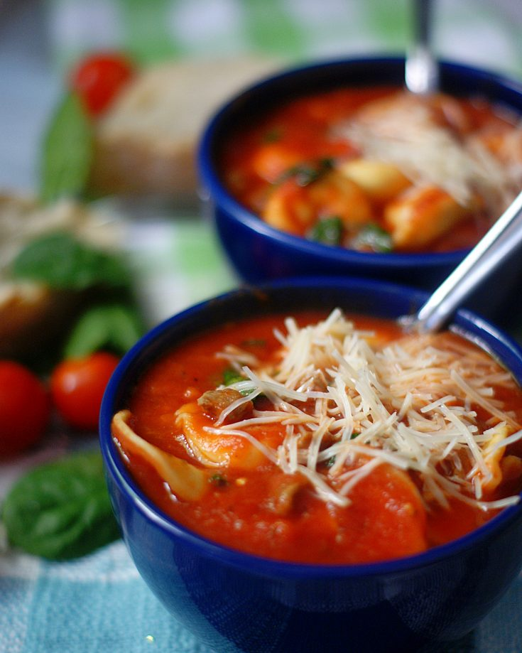 Italian Tortellini Soup with Sausage & Spinach