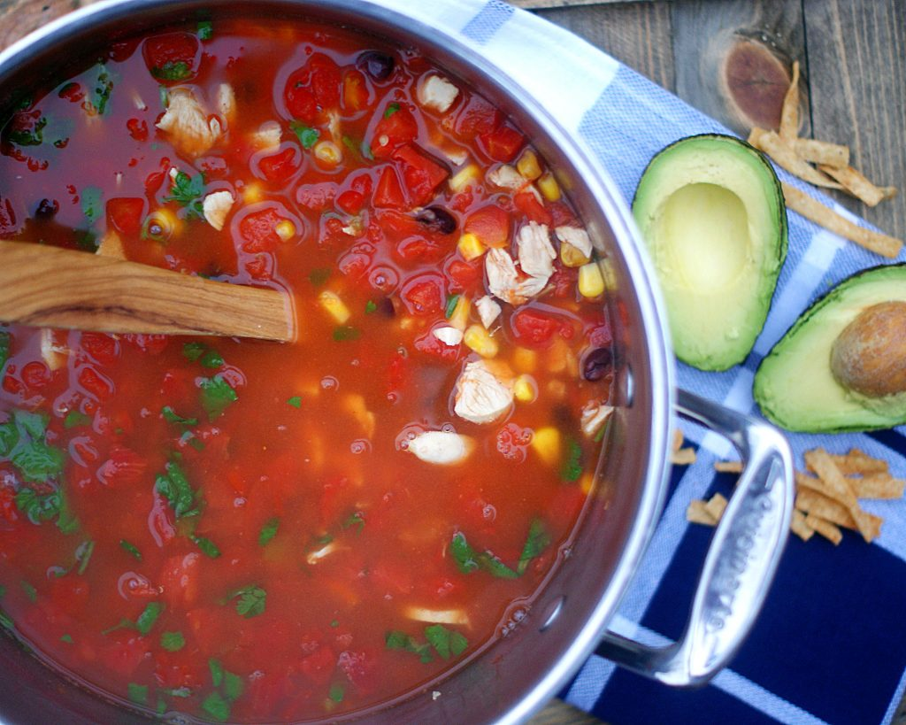 Easy Homemade Chicken Tortilla Soup