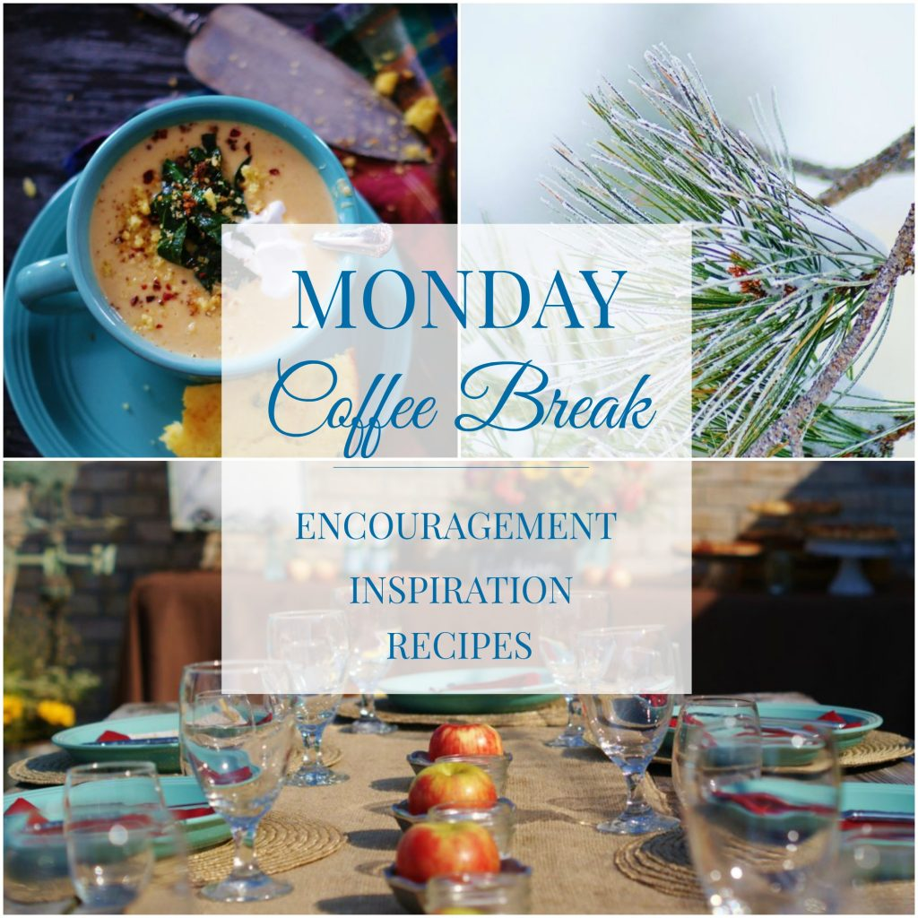 Monday Coffee Break 17: Testimonies, Sweet Potato Soup & Dinner Parties