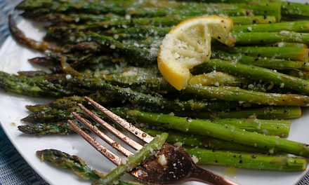 Skillet Roasted Lemon Asparagus